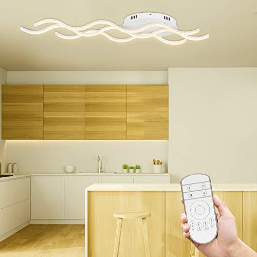 HENGMEI LED Deckenleuchte deckenlampe 30W Innenleuchte dimmbar mit fernbedienung Balkonleuchte Kinderzimimer Lampe für wohnzimmer küche