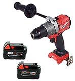 Milwaukee 2804-20 18V 1/2' Hammer Drill,2Pc. 48-11-1850 5.0Ah Battery