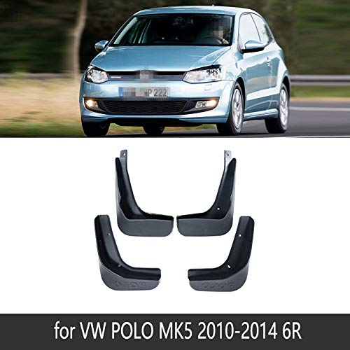 For Volkswagen VW Polo 6R 6C 2010~2017 Fender Mud Flaps Guardia Splash Flap Guardabarros Accesorios 2011 2012 2013 2014 2015 2016 (Color : Polo 6R 2010-2014)