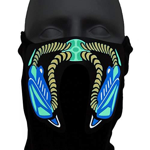 Ucult Leuchtende Atomic-Survivor LED Maske Mund Nasenmaske für Festivals Raves EDM Konzerte