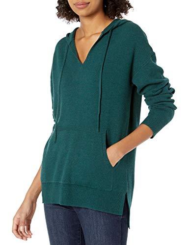 Daily Ritual Ultra-Soft Milano Stitch Drawstring Hoodie Sweater Sweaters, moosgrün, US M (EU M - L)