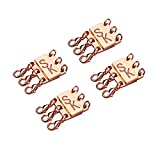 Layering Necklace Clasp, Magnetic Separator for Stackable Necklaces and Chains Bracelets 4pack(Rose gold)
