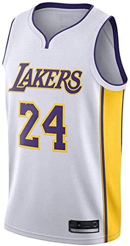 XLXay Herren Damen Trikot – Lakers # Kobe Bryant Jerseys atmungsaktiv bestickt Basketball Swingman Jersey, weiß, Large