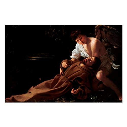 BLESFEST Saint Francis of Assisi in Ecstasy by Caravaggio 1000 Piece Jigsaw Puzzle for Kids Adults, Jigsaw Puzzles Game Gift for Boys Girls Children Learning Educational Puzzles Toys 20 x 30 inches