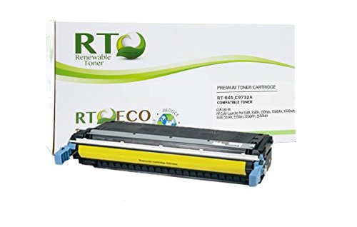 Renewable Toner Compatible Cartridge Replacement for HP 645A C9732A Color Laserjet 5500 5550 (Yellow)
