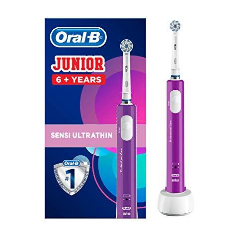 Oral-B Junior - Cepillo Eléctrico Recargable para Niños a Partir de 6 Años, Morado