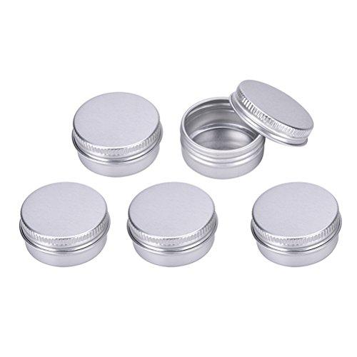 sevenmye 20 PCS Aluminium leer Lip Balm Reise-Kosmetiktasche Flaschen Container für Candy, Münzstätten, Vitamine und DIY Gesichtscreme Aufbewahrung