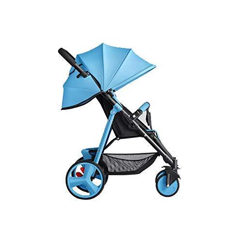 WJSW 6kg Kinderwagen mit Sitz- und Liegefunktion Kostenloser Umbau Super Light und Umbrella Strollers SLD Kinderwagen, Blau