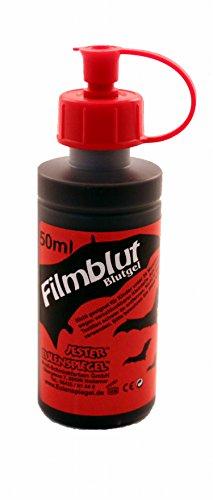 Eulenspiegel Profi-Schminkfarben, Filmblut/Blutgel, hell, 1er Pack (1 x 50 ml)