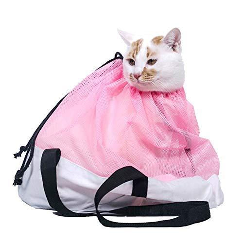 TOMATION Multifunktions-Haustier-Katzenpflege-Badetasche, Netzbeutel für Dusche, Medikamentenfütterung, Injektion, Kratzfeste Tasche, Feste Katzen-Reisetasche