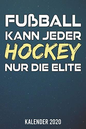 Kalender 2020: Hockey nur die Elite A5 Kalender Planer für ein erfolgreiches Jahr - 110 Seiten