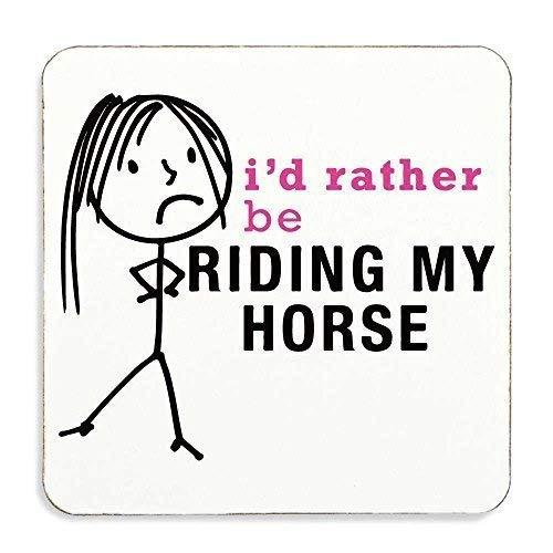 Dames liever rijden mijn paard Coaster vrouw cadeau nieuwigheid verjaardag Kerstmis Valentijnsdag cadeau