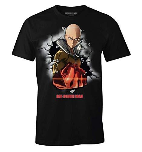 Cotton Division Camiseta One Punch Man Hombre Saitama...