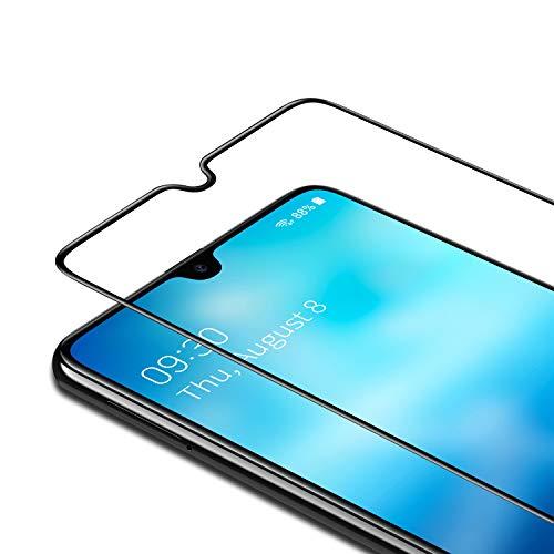 Bewahly Cristal Templado para Samsung Galaxy A31 [2 Piezas], Ultra Fino Completa Cobertura Protector Pantalla, 9H Dureza Alta Definicion Vidrio Templado Sin Burbujas para Samsung Galaxy A31 (Negro)
