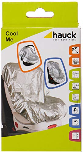 Hauck Cool Me Sonnenschutz für Babyschalen und Kindersitze, Kindersitzabdeckung, silber