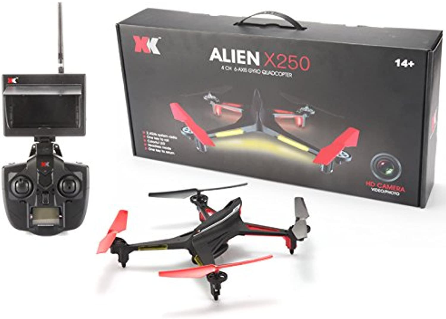 XK X250 RC Drone 2.4GHz 4CH 6Axis RC Quadcopter One Key Return Headless RC Aircraft Without Camera