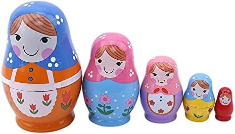 ROEWP Russian Cheap bargain Nesting Dolls Set Pieces 5 Max 65% OFF Handmade Girls