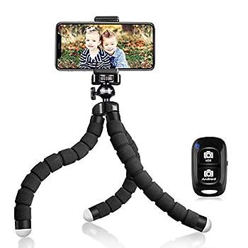 UBeesize Tripod S Premium Flexible Phone Tripod with Wireless Remote Mini Tripod Stand for Cameras/GoPros/Mobile Devices