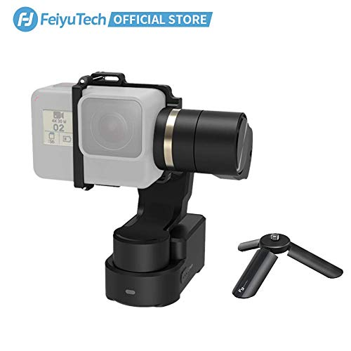 FeiyuTech WG2X Stabilizer Wearable Gimbal with Mini Tripod,Fits GoPro HERO7/HERO6/HERO5/HERO4/GoPro Session Series/YI 4K/AEE,Splashproof