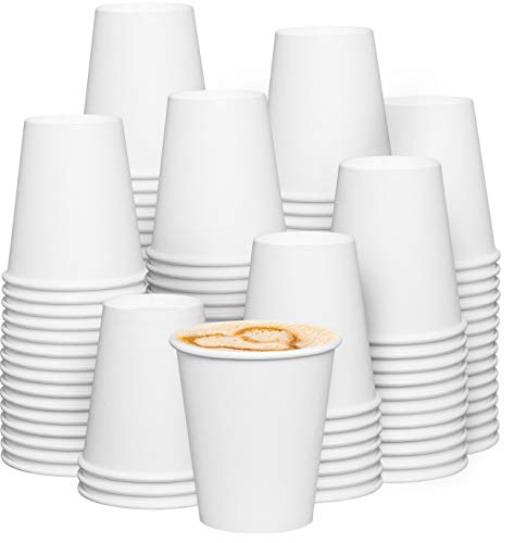 [300 Pack] 10 oz. White Paper Hot Cups, Coffee Cups