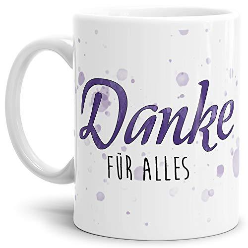 Tassendruck Dankeschön-Tasse Danke für Alles Weiss - Cup/Mug/Becher/Schön