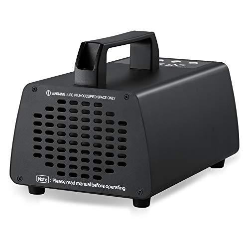 ZJHTGenerador de ozono generador de ozono comercial máquina de ozono de fuerza industrial purificador de aire O3 generador de iones de aire para el hogar desodorante desodorante (negro, 10000mg)