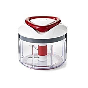 Zyliss Easy Pull Food Processor, White/Grey/Red