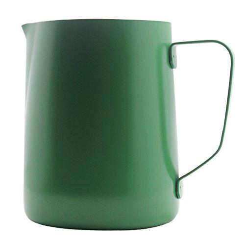 Sipliv 20 oz (600 ml) de acero inoxidable espresso jarras humeantes leche espumante jarra crema macchiato cappuccino latte art making jarra tazas jarra espumante - verde