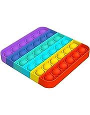 LSEEKA Push Pop Bubble Sensory Fidget Giocattolo Antistress Relief Special Needs Silent Classroom Fidget Sensory Toys Squeeze Toys,Arcobaleno