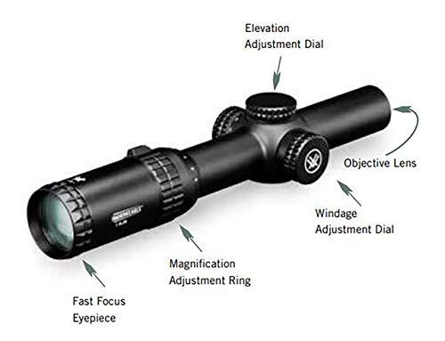 Vortex Optics Strike Eagle 1-8x24 Second Focal Plane Riflescope - BDC2 Reticle (MOA)
