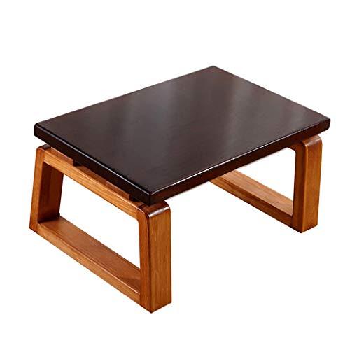 Table Ensembles de et chaises À Thé Balcon Baie Vitrée À Thé Multifonction en Bois Massif De Chambre À Coucher Tatami Ménage Cadeau (Color : Brown, Size : 60 * 45 * 30cm)