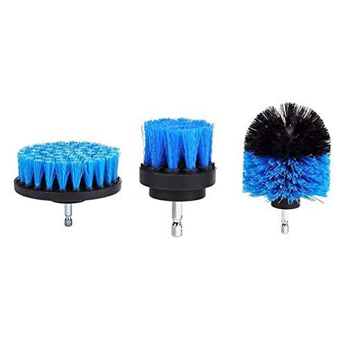 Juego de 3 Piezas para Azulejos, lechada, depurador eléctrico, Taladro, Cepillo, Limpiador de bañera, Kit Combinado, Azul