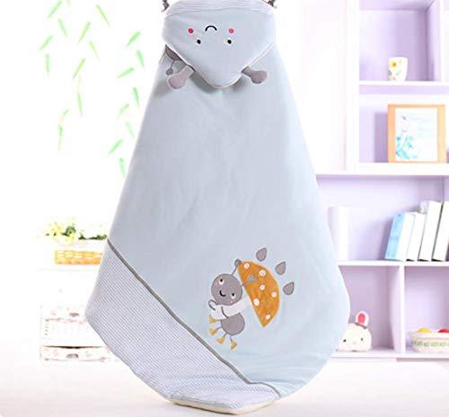 JUYOU Sacco a pelo per bambino Cartoon Sleeping Baby Swaddle Coperta da letto per neonato Neonato Sacco a pelo in cotone