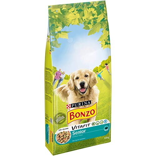 Bonzo Trockenes Hundefutter Senior Hühnergemüse - Beutel 15 Kilo