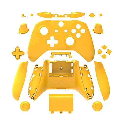 uirend Housing Faceplate Handles Controller - Replacement Full Housing Case Front Back Shell Cover Faceplates for Microsoft Xbox One Slim Wireless Controller Matte (Yellow)