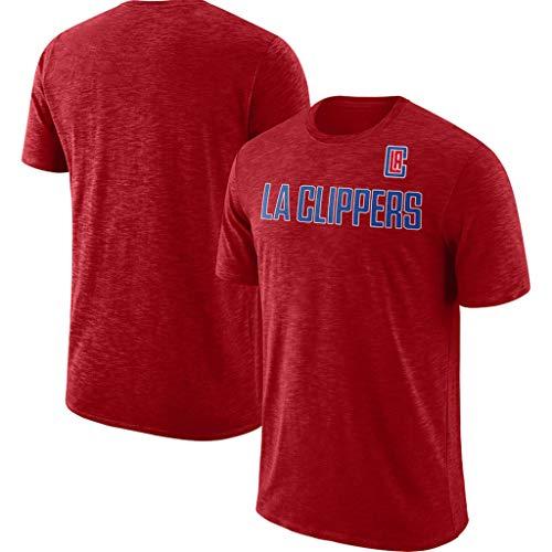 NBA La Camiseta De Los Angeles Clippers Los Aficionados De Los Hombres De Jersey Transpirable De Secado Rápido De Atletismo De Cationes Ropa De Verano para Los Jóvenes S-XXXL Red-XXXL