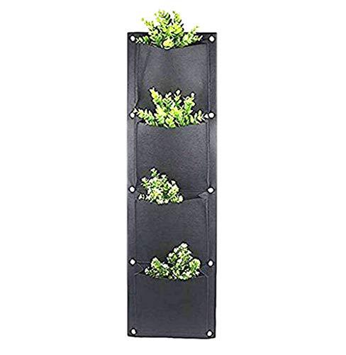 YIY 7 vertikale Wandmontage-Pflanzgefäße aus Rattan, für drinnen und draußen, für Erdbeere und Kräuterplanung