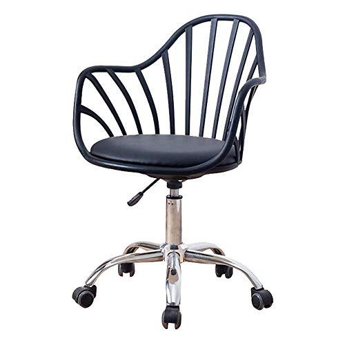 JJLL Weiß Schreibtisch Stühle mit Rollen/Armes Moderne PU-Leder-Bürostuhl midback Einstellbare Home Computer Chefsessel auf Rädern 360 ° drehbar (Color : C)