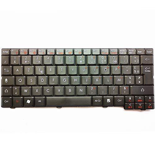 Junweier Teclado francés AZERTY para Acer Aspire One ZG5 D150 D210 D250...