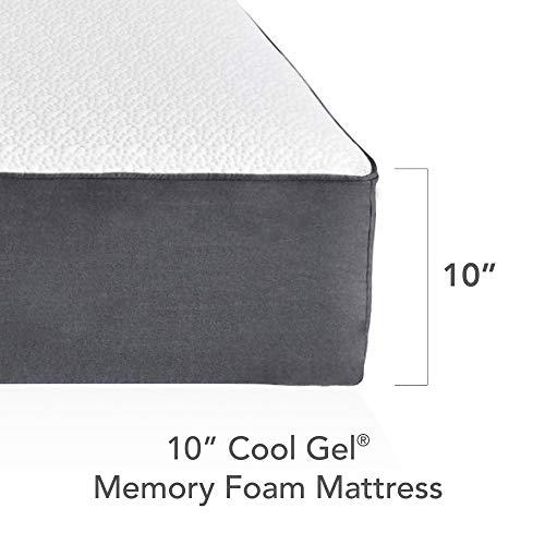 Classic Brands Cool Ventilated Gel Memory Foam 10-Inch Mattress, California King, White