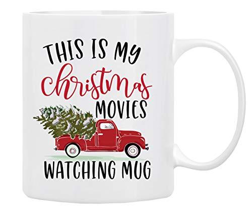 Christmas Gifts Coffee Mug,This is My Christmas Movies Watching Mug, Funny Coffee...