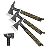 NedFoss Throwing Axes and Tomahawks, Throwing Hawks Axes Pack of 3, 10.6' Full Tang Tactical Throwing Axes Set with 2.5 Inch Blades, Hatchet Throwing with Nylon Sheath for Recreation and Competition