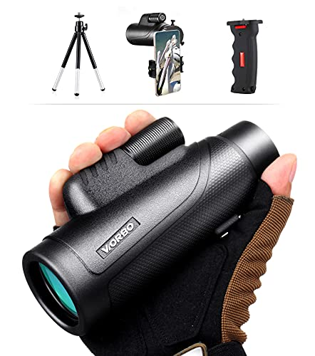 Expotheworld 10X42 Professional Bak4-Prism Waterproof Adult Monoculars for Hunting and Bird Watching Wild Animals, Children are Auitable for Smartphone Photography, Outdoor Sports Games and Concerts