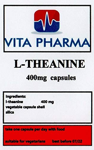 L -THEANINE 400mg, 30 Capsules, 1 Month Supply, by VITA PHARMA, Made HERE in The UK, Order Today