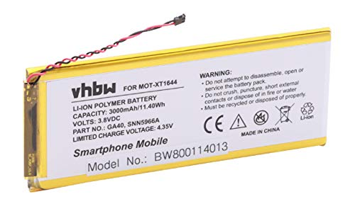 vhbw Akku kompatibel mit Motorola Moto G4 Plus, XT1644 Handy Smartphone Handy (3000mAh, 3,8V, Li-Polymer)