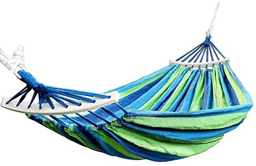 Plztou Double Hammock 450 Lbs Portable Travel Camping Hanging Hammock Swing Lazy Chair Canvas Hammocks