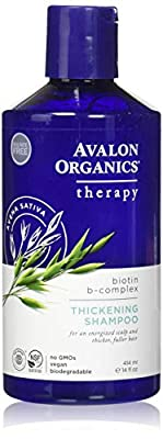 Avalon Organics, Biotin B-Complex Therapy Thickening Shampoo, 14 fl oz (414 ml) by Avalon Organics
