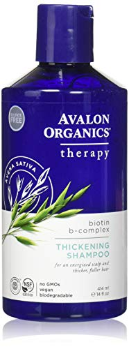 Champú Avalon Organics Biotin B Complex para dar volúmen, 414 ml, el embalaje puede variar