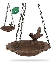 WILDLIFE FRIEND   Bebedero para pájaros colgante baño para pájaros, resistente a la intemperie, cuenco para alimentos, baño para pájaros, para colgar, bebedero para pájaros