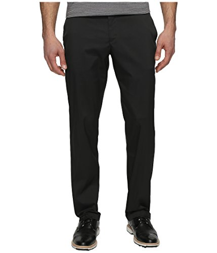 NIKE Men's Flat Front Golf Pants, Black/Black, Size 38/32